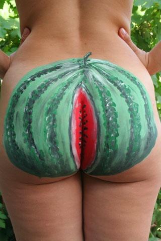 порно фото мастурбации в дыню или арбуз