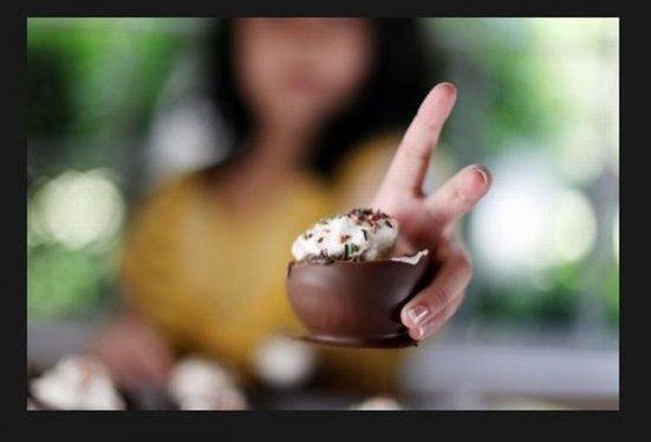 Как сделать шоколадные стаканчики для мороженого