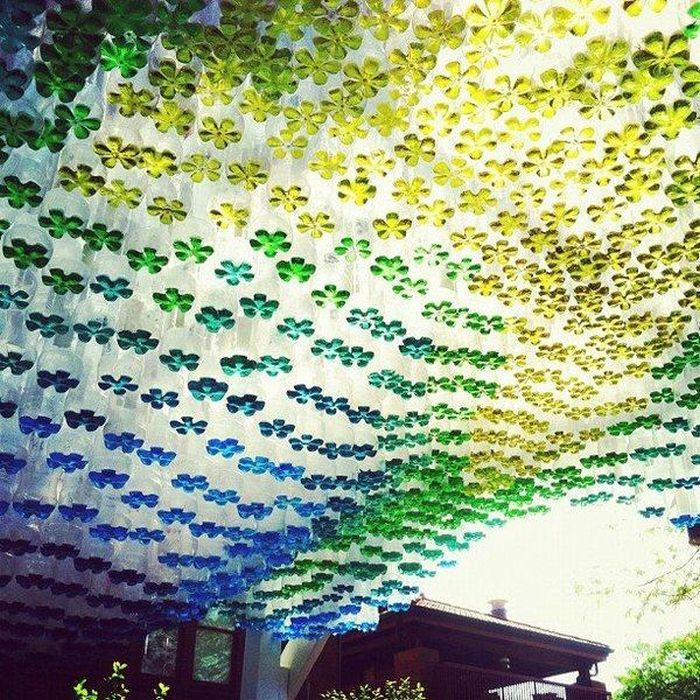 Как сделать ёлку из пластиковой бутылМеталлический навес
